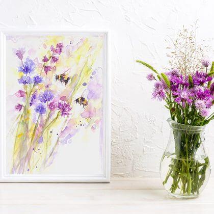 Bees & Wildflowers (In situ) (1)