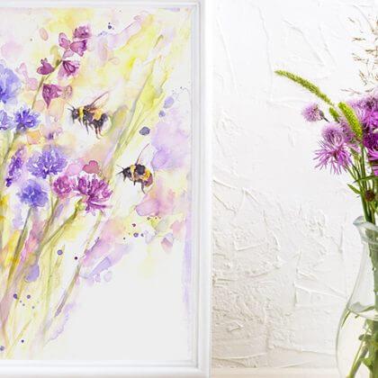 Bees & Wildflowers (In situ)