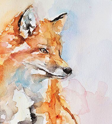 Handsome Fox (original art) resized